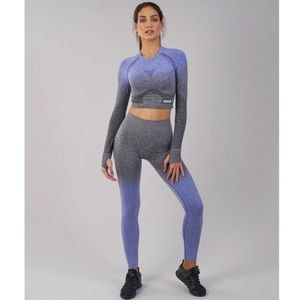 Gymshark Long Sleeve Ombre Seamless Crop Top